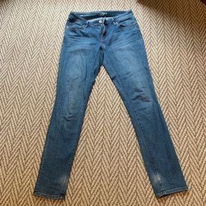 Ann Taylor LOFT curvy skinny jeans size 0